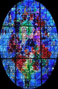 Chagall : Arbre de Vie (vitrail de Sarrebourg)
